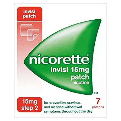Nicorette InvisiPatch, Step 2, 15 mg, 7 Nicotine Patches (Stop Smoking Aid) from Nicorette