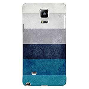 Jugaaduu Stripes Pattern Back Cover Case For Samsung Galaxy Note 4