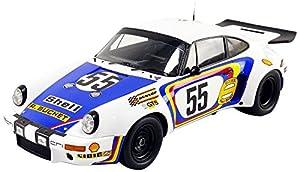 Spark-Miniatura de Coche Porsche 911RSR 3.0Le Mans 1975(Escala 1/18, 18s289, Color Blanco/Azul