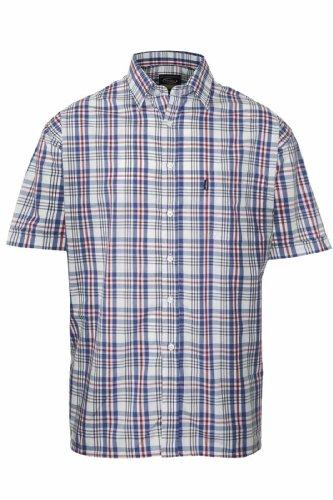 Lot de 2 colliers pour homme Style décontracté Champion Chemise manches courtes carreaux Bleu - 1 x Blue 1 x Green