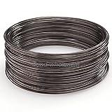 ILOVEDIY 100 Windungen Speicher Draht Memory Wire Spiraldraht Schmuckdraht für Armband Basteln (Gunmetal Schwarz, 0.6x60mm)