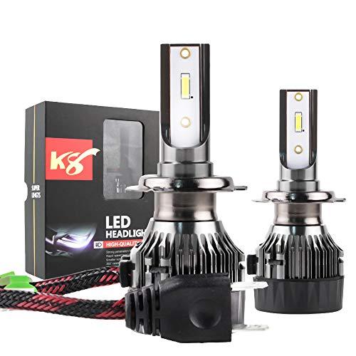 MiCarBa Lampadine per fari LED per auto H7, Kit di conversione all-in-one Chip per COB Super Bright 6000LM 60W Fari per esterni Lampada per, compatibile con la maggior dei modelli di auto (LS-H7)