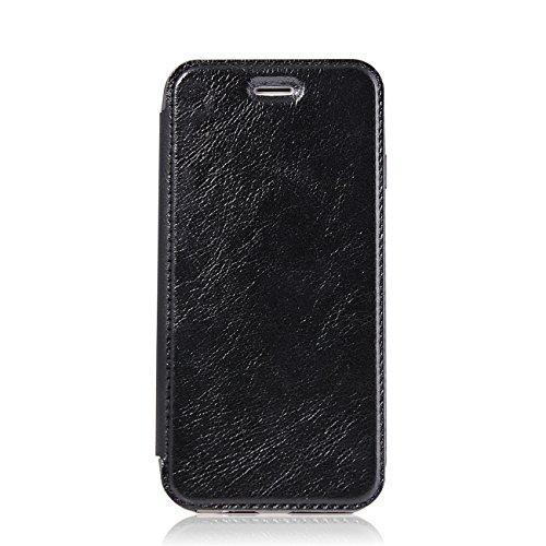 Coque Apple iPhone 6 / 6s PU cuir flip Wallet Etui Case Cover Housse noir