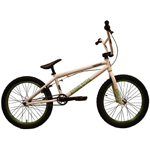 Shaun White Supply Co. sha09049th35wg – bicileta BMX, 20 in, colore: bianco/verde