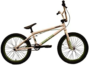 Shaun White Supply Co. sha09049th35wg–bicileta BMX, 20in, colore: bianco/verde