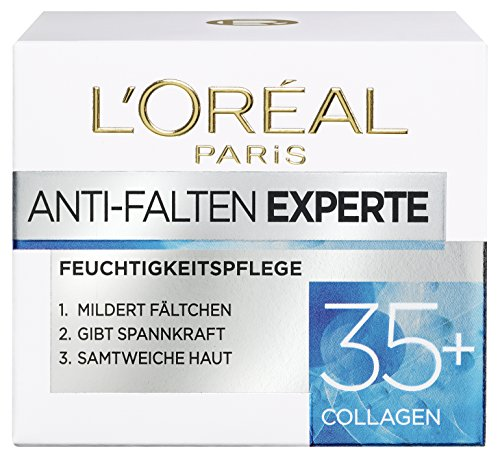 Loreal Anti-falten (L'Oreal Paris Anti-Falten Experte Feuchtigkeitspflege, für 35+, mildert Fältchen und gibt Spannkraft für eine samtweiche Haut, 50 ml)