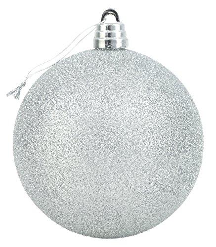 15cm giganti argento glitter bauble - decorazioni di natale - albero di guarnizioni.