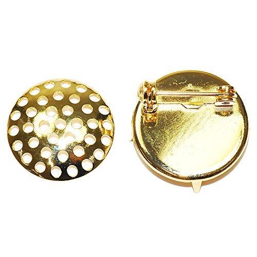 (Accessoire pièces / ferrures métalliques) Broches de douche / 15 mm or