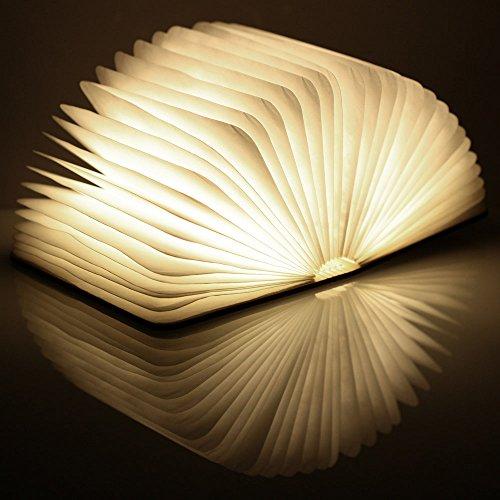 confronta il prezzo lampade libro USB ricaricabile pieghevole in legno magnetico LED Light del libro di lamp - 2500mAh batterie al litio scrivania lampada da tavolo miglior prezzo