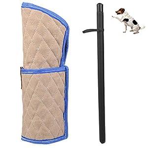Petacc Dog Bite manches et bâton de dressage de chien manches Cuir pour animal domestique d'entraînement Fouet, Lot de 2