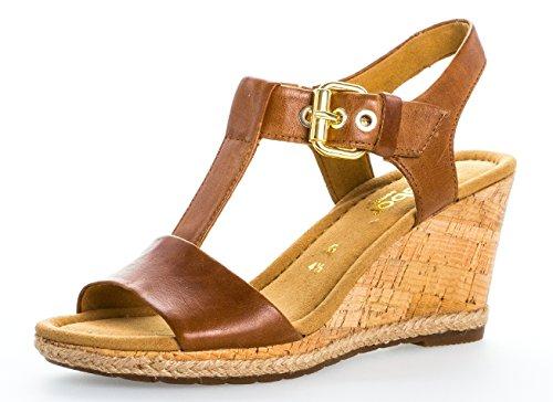 Gabor Damenschuhe 62.824.53 Damen Sandalen, Sandaletten, Mehrweite Braun (peanut (Kork/Jute)), EU 5