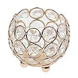 Sharplace Mini Kristall Votive Teelicht Kerzehalter Kerzenständer Kerzenleuchter - Gold, 8cm