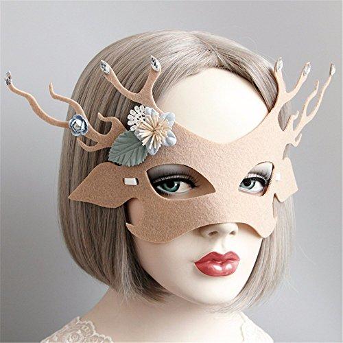 Maskerade Maske Halloween Weihnachten und Kostüm Party Maske Partei tanzmaske Männlichen und Weiblichen gemeinsame Maske, Beige