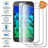 Wenlon [3 Unidades Adecuado para Samsung Galaxy Core Prime G360, Pantalla HD de Cristal Templado 9H de dureza, película Protectora de Vidrio Templado, protección contra rayones