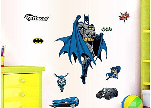 Batman Poster Cartoon Wandaufkleber aus Vinyl, mit Schriftzug-Home Decor Wandsticker Wandaufkleber für Kinder Zimmer 60 *90 cm 1 (Vinyl-schriftzug Home Decor)