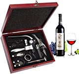 Wine Opener Set - Smaier Rabbit Style Corkscrew,Wine Accessories,Wine Opener Kit Gift Set with Wood Case