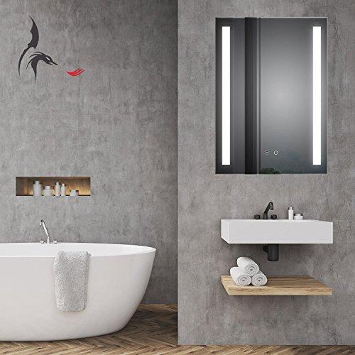 HOKO TOP Aktion  LED Badezimmerspiegel mit ANTIBESCHLAG SPIEGELHEIZUNG Borkum 60x80cm LED kaufen  Bild 1*