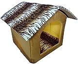 Best Pet Hut - Designer Printer Velvet Fabric Dog House Foldable Pet Review