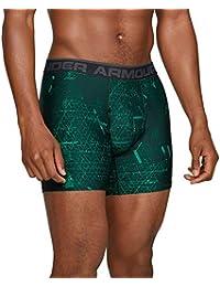 Under Armour - Calcetines de Boxeo para Hombre, Hombre, 1299994-349, Green Malachite/Charcoal Light Heather, Medium