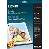 Premium Photo Paper, 68 lbs., High-Gloss, 8 x 10, 20 Sheets/Pack, Sold as 1 Package