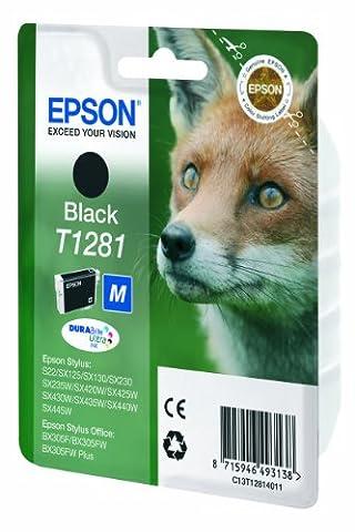 Epson Original C13T12814011 Fuchs, wisch- und wasserfeste Tinte (Singlepack) schwarz