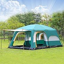 Ywertyy 4-6 Personas Gran Familia Carpa De Camping Impermeable Doble Fiesta Al Aire Libre