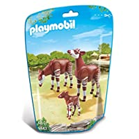 Playmobil 6643 City Life Zoo Okapi Family(Multi-color)