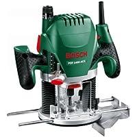 Bosch Fresadora de superficie POF 1400 ACE, maletín (3x pinzas de sujección, fresa, tope paralelo, adaptador para aspiración, 1.400 W)