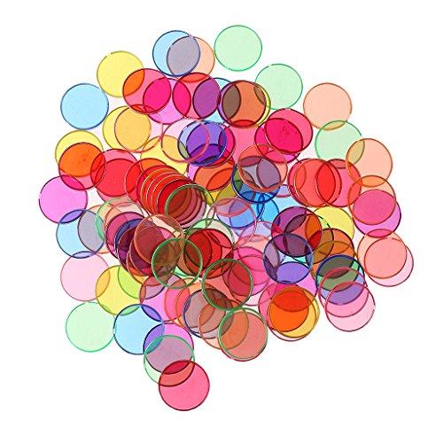 Sharplace 100 Stück Mathe Zählen Markers Magnetisch Set, Magnet Zähler (Chip-magnete)