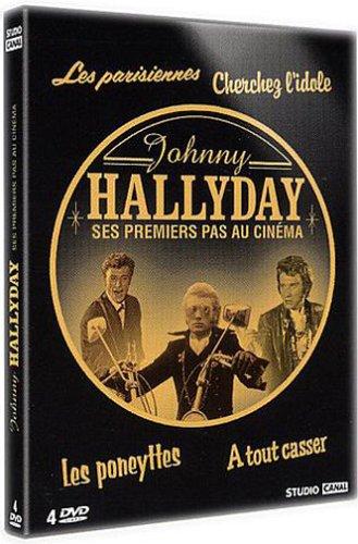 Bild von Johnny Hallyday - Ses premiers pas au cinéma : Les parisiennes/Cherchez l'idole/Les poneyttes/À tout casser - Coffret 4 DVD [FR Import]