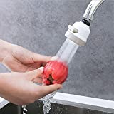 Mallalah Tête de Robinet de Cuisine 360 Pivotant Economie D'eau embout de Filtre de Buse Bain Aérateur Barboteur 3 Modes Réglable Mobile