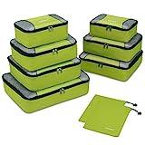 Gonex Organiseurs de Bagage Sacs Rangement de Valise Voyage 9 pcs Vert
