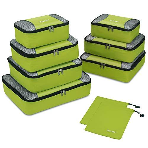 Gonex Organisateurs de bagage Sacs rangement de valise Voyage 9 pcs Vert