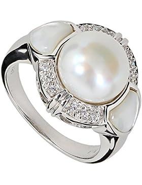 Renato Fellini Damen-Ring Sterling-Silber 925 rhodiniert Zuchtperle SWZP weiß Perlmutt