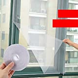 #9: Desi Rang™ window mosquito net, anti insect mesh, 1.5 x 1.3 meter, (Black)