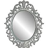 Provins Deco Style Wandspiegel, 33 cm, Grau