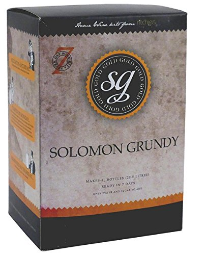 Salomone Grundy Oro Merlot 30bottiglia di vino home Brew Kit