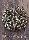 Gürtelschnalle - Keltisches Muster, durchbrochen LARP Gürtelschließe Wikinger Mittelalter Silber oder Bronze (Bronze)