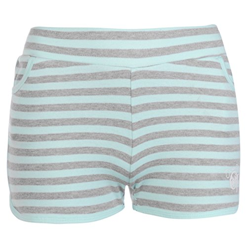 ocean-pacific-yd-interlock-kinder-maedchen-shorts-freizeit-sporthose-kurze-hose-grey-m-lt-blue-9-10-