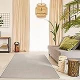 havatex Schurwolle Teppich Shepherd - Farbe wählbar   100% strapazierfähige Naturfaser Wolle   für Wohnzimmer Schlafzimmer Esszimmer Büros, Farbe:Grau, Größe:120 x 170 cm