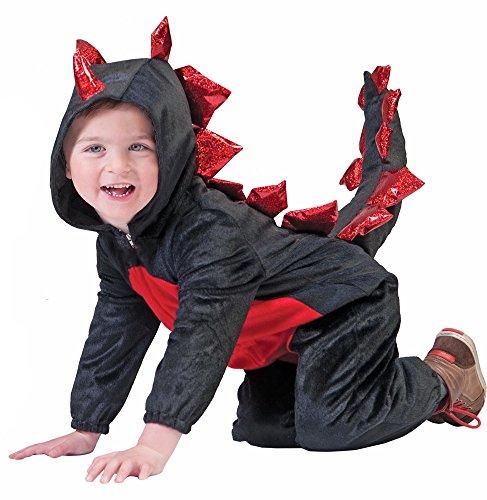 Schwarzer Drache Kostüm für Kinder - Schwarz Drachen Kostüm