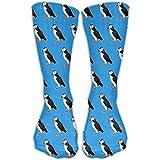 Puffin Birds Pattern Unisex Novelty Crew Socks Ankle Dress Socks Fits Shoe Size 6-10