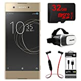 Sony XA1 16GB 5' Smartphone, Unlocked - Gold (1307-4958) w/32GB Bundle Includes, 32GB MicroSD Memory Card, Fusion Bluetooth Headphones, VR Vue II Virtual Reality Viewer & USB Micro-B to USB-A Cable
