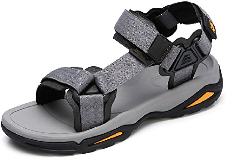 QIANDA Sandalias Zapatos De Verano Hombre Velcro Ajustable Zapatos De Playa Al Aire Libre Amortiguación Antideslizante
