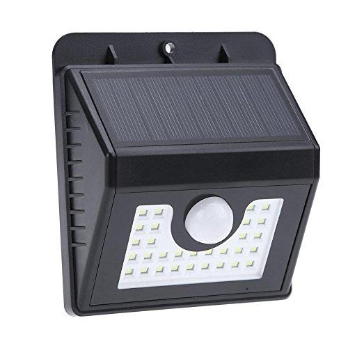 30 LED Kunststoff Solar Licht Bewegung Sensor Outdoor Garten Wasserdichte Wandleuchte (Outdoor Wandleuchte-bewegungs-sensor)