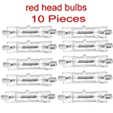 Redhead light bulb/Halogen Tungsten Continuous Light Red head Bulb for Photo Studio 800W BULB 10 PC DXX