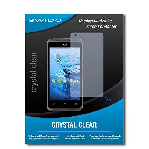 SWIDO Schutzfolie für Acer Liquid Z410 Plus [2 Stück] Kristall-Klar, Hoher Härtegrad, Schutz vor Öl, Staub & Kratzer/Glasfolie, Bildschirmschutz, Bildschirmschutzfolie, Panzerglas-Folie