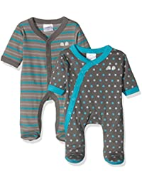 Twins Baby Boys' Sleepsuit, Pack of 2