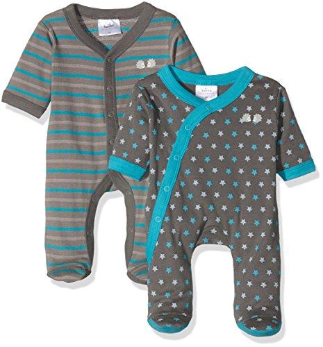 Twins Baby-Jungen Schlafstrampler 2er Pack, Blau (Marine 114), 74