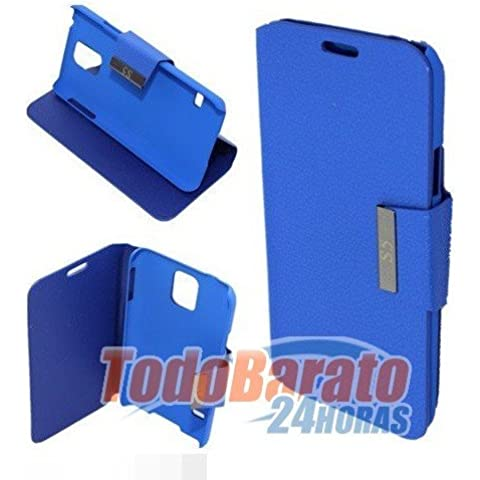 Funda libro soporte azul Samsung Galaxy S5 V GT-I9600 G900